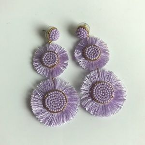 BaubleBar's Mariette Fringe Earrings - Lilac